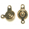 Button Clasp 7.5mm Gold